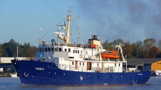 """C'est avec ce bateau que les milieux identitaires entendent mener leur action """"anti-migrants"""" [Dietmar Hasenpusch - Keystone ]"""