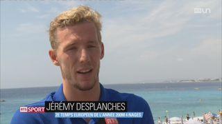 Natation: le Genevois Jérémy Desplanches a activement préparé les Mondiaux à Nice [RTS]