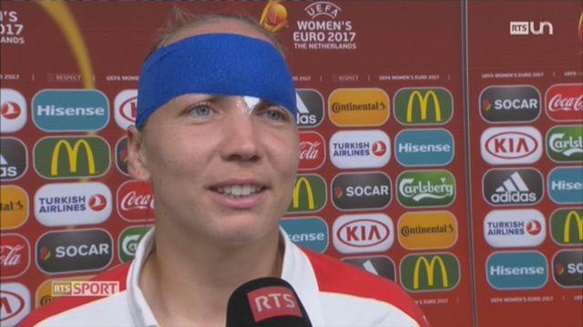 Football- Euro féminin: la gardienne suisse Gaëlle Thalmann a subi un gros choc contre l'Islande [RTS]