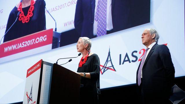 La conférence réunit les meilleurs scientifiques mondiaux sur le SIDA à Paris. [François Guillot - AFP]