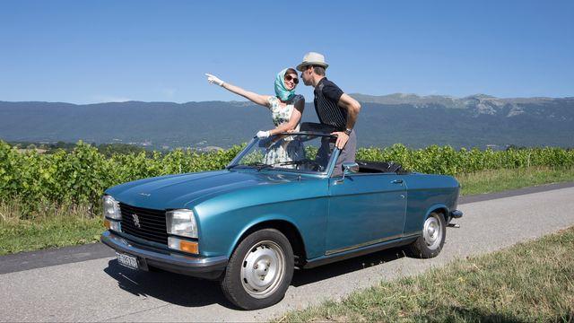 Brigitte et Jean-Pierre à la découverte de la Suisse romande. [Philippe Christin - RTS]