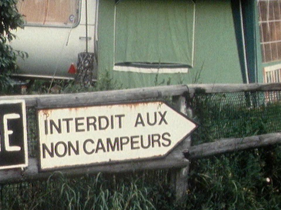 Le gardien du camping en 1981. [RTS]