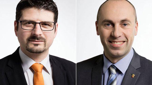 Yannick Buttet et Manfred Bühler. [Keystone]