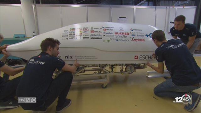 Le Swissloop sera peut-être le train du futur [RTS]