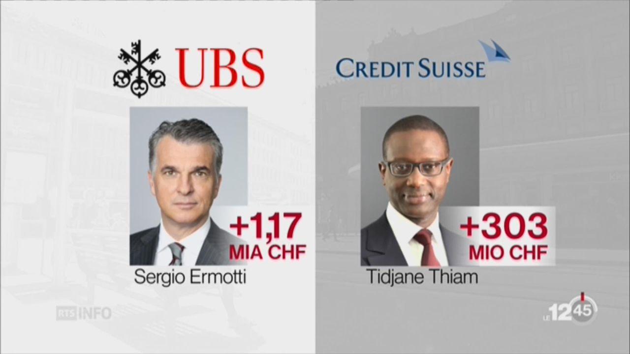 Les grandes banques suisses vont mieux [RTS]