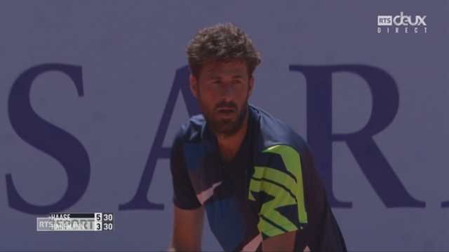Gstaad, 1-2, Haase (NED) - Hanfmann (GER) 6-3 [RTS]