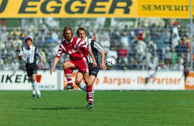 Johann Lonfat sous les couleurs du FC Sion en 1997. [Werner Getzmann - Keystone]