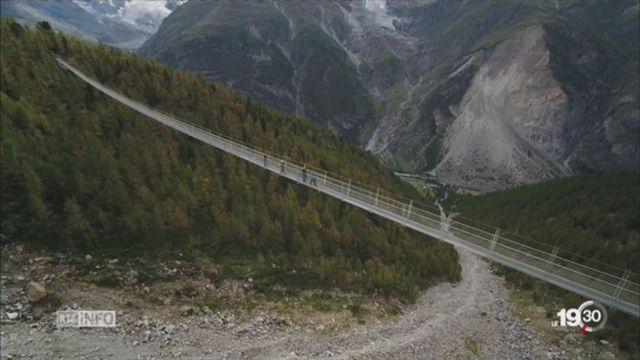 Le plus long pont suspendu du monde se trouve à Randa (VS) [RTS]