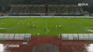 Football - Super League (2e j.): une seule mi-temps a été jouée entre Lugano et Saint-Gall [RTS]