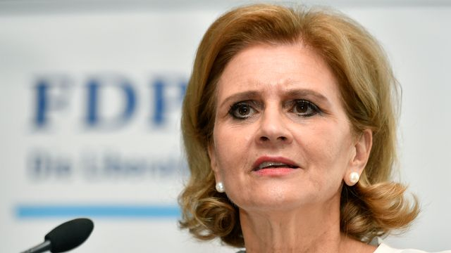 Doris Fiala, présidente suisse des femmes PLR. [Walter Bieri - Keystone]