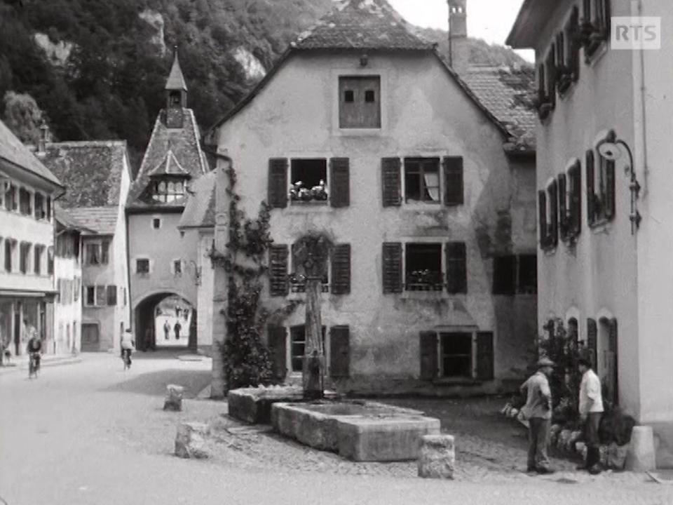 St-Ursanne en 1954. [RTS]