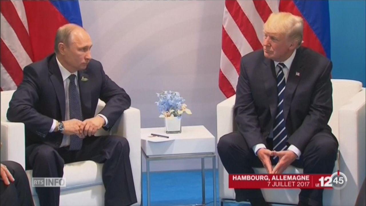 Donald Trump promulgue de nouvelles sanctions économiques contre la Russie [RTS]