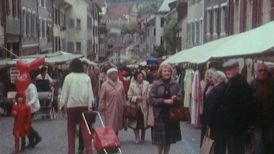 Marché de Porrentruy en 1983. [RTS]