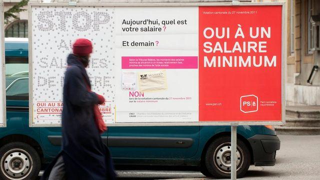 Le salaire minimum avait été approuvé par les Neuchâtelois en novembre 2011. [Sandro Campardo - Keystone]