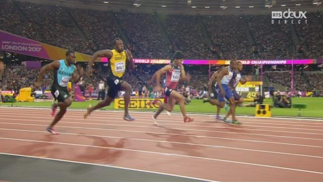 Mondiaux, 100m: Usain Bolt (JAM) remporte sa série [RTS]