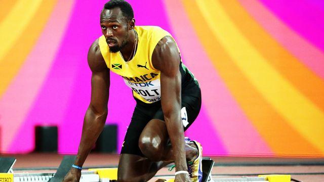 Usain Bolt aux Championnats du monde d'athlétisme, ce 4 août à Londres. [Diego Azubel - EPA - Keystone]
