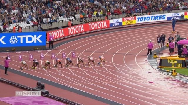 Mondiaux, 100m: Salome Kora (SUI) termine 4e de sa série [RTS]