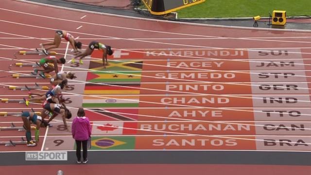 Mondiaux, 100m: Mujinga Kambundji (SUI) finit 2e et se qualifie pour les demi-finales [RTS]
