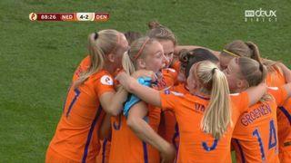 Finale, Pays-Bas - Danemark 4-2: 89e Vivianne Miedema [RTS]