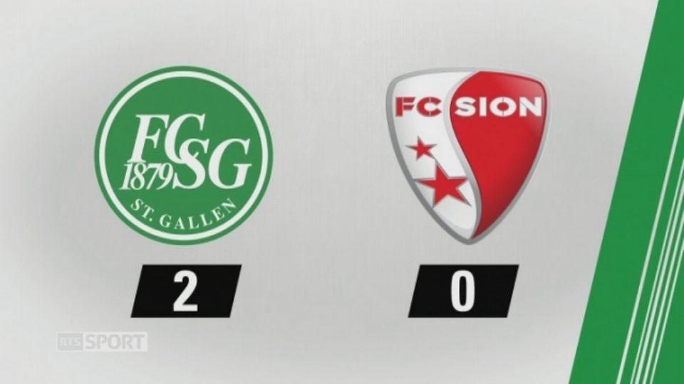 3e journée, Saint-Gall - Sion 2-0: les buts de la rencontre [RTS]