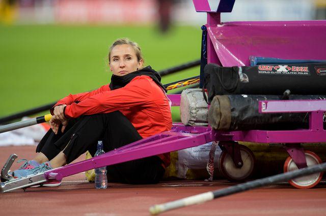 Nicole Büchler a déçu en finale de la perche des Mondiaux de Londres. [Jean-Christophe Bott - Keystone]