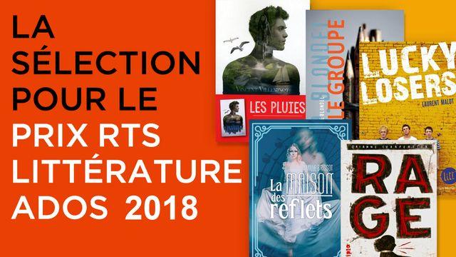 Sélection Prix RTS Littérature Ados 2018.