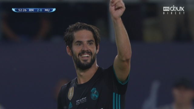 Supercoupe, finale: Real Madrid – Man. United 2-0, 52 Isco [RTS]