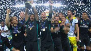 Supercoupe, finale: Real Madrid – Man. United 2-1, la remise du trophée [RTS]