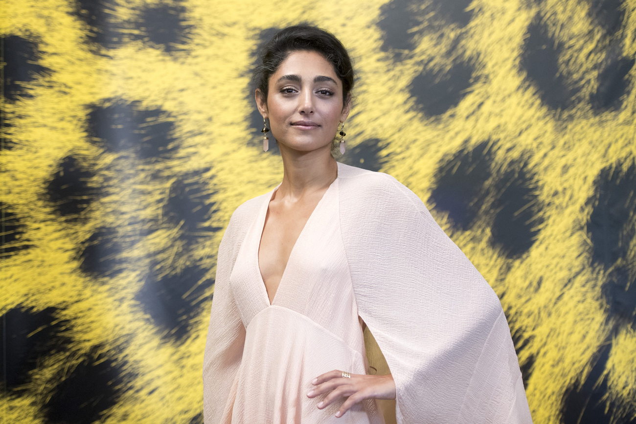 "L'actrice Golshifteh Farahani à Locarno pour le film ""The song of Scorpions""."