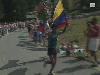 Le Colombien Francisco Sanchez Martinez remporte Sierre Zinal en 1991. [RTS]