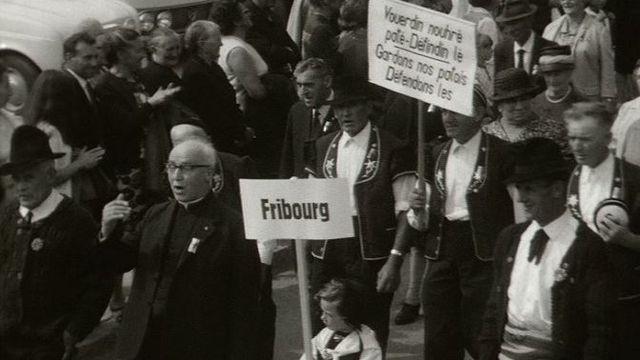 4e Fête romande des patoisants en 1969 à Savièse (Valais) [RTS]