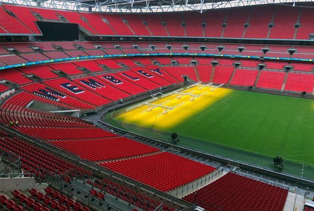 Le stade de Wembley à Londres, qui accueille les matchs de la Premier League. [Rob Harris - AP/Keystone]