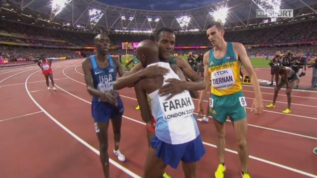 Mondiaux, 5000m: Edris (ETH) gagne et surprend Mo Farah (GRB) 2ème [RTS]