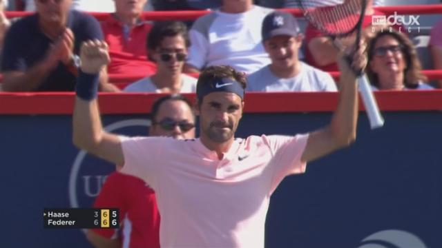 Montréal, 1-2 finale: Robin Haase (NED) - Roger Federer (SUI) 3-6, 6-7 [RTS]