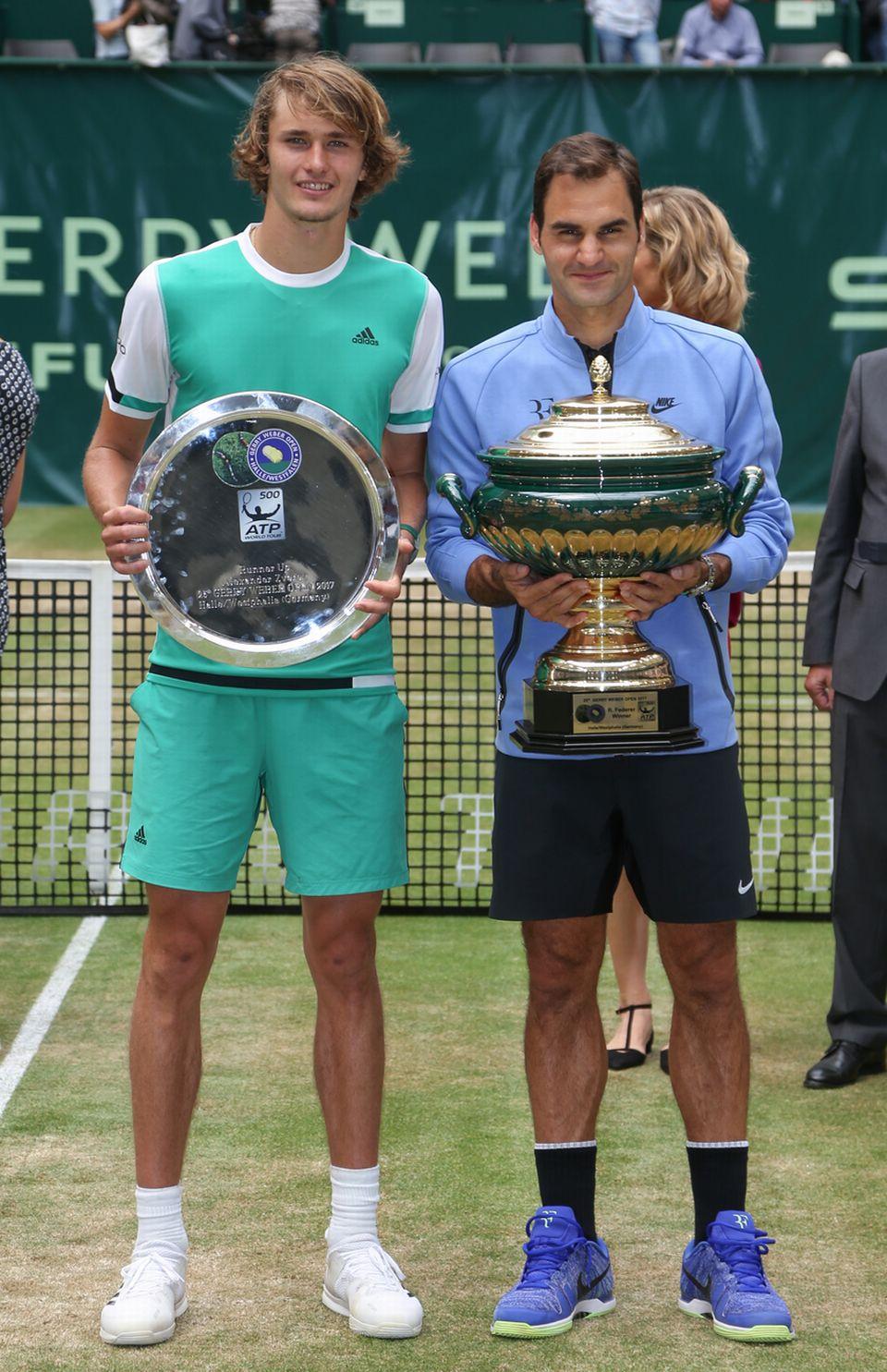 Federer avait dominé Alexander Zverev le 25 juin dernier sur le gazon de Halle. [Friso Gentsch - Keystone]