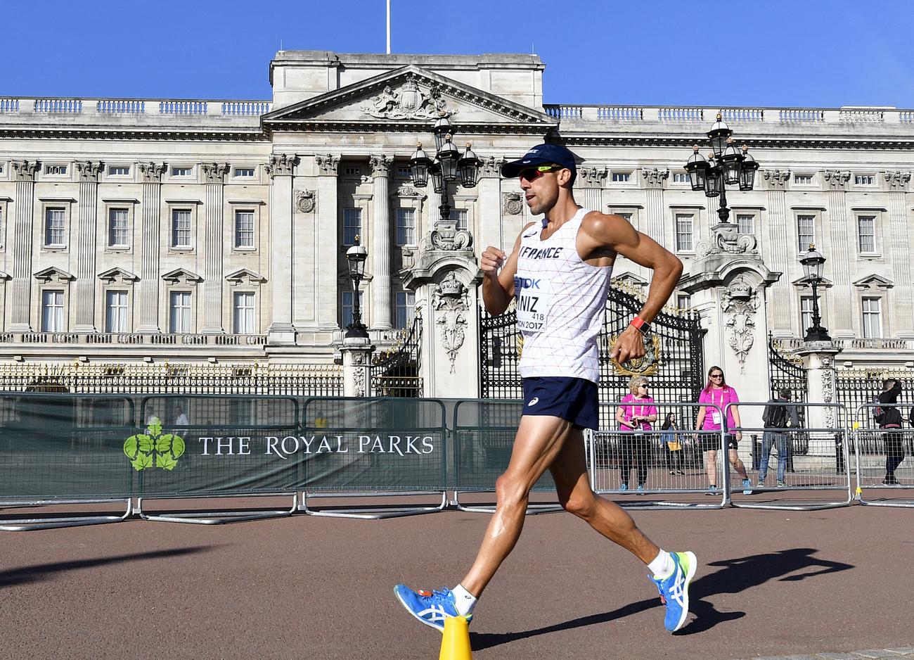Athlétisme: Diniz champion du monde du 50 km marche, 3e titre français