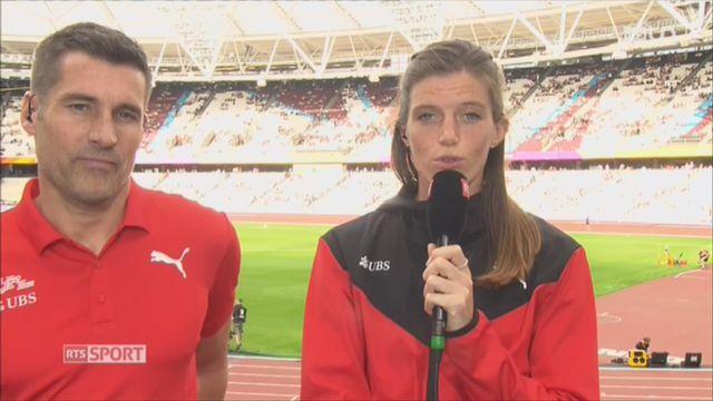 Athlétisme: entretien avec Lea Sprunger et Laurent Meuwly, à Londres [RTS]