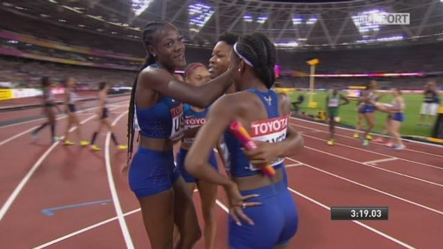 Finales, 4x400m dames: les Américaines remporte le titre devant les Britanniques 2e et les Polonaises 3e [RTS]