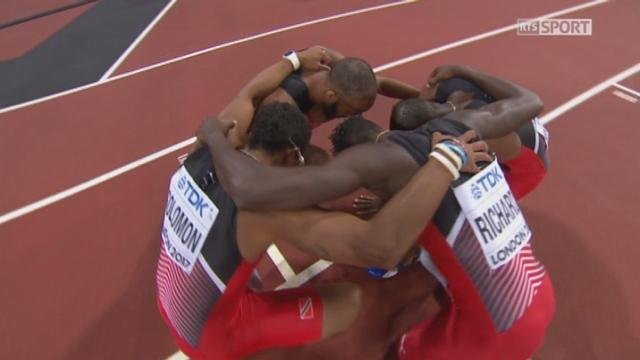 Finale, 4x400m messieurs: Trinité-et-Trobago s'impose devant devant les USA 2e et la Grande-Bretagne 3e [RTS]