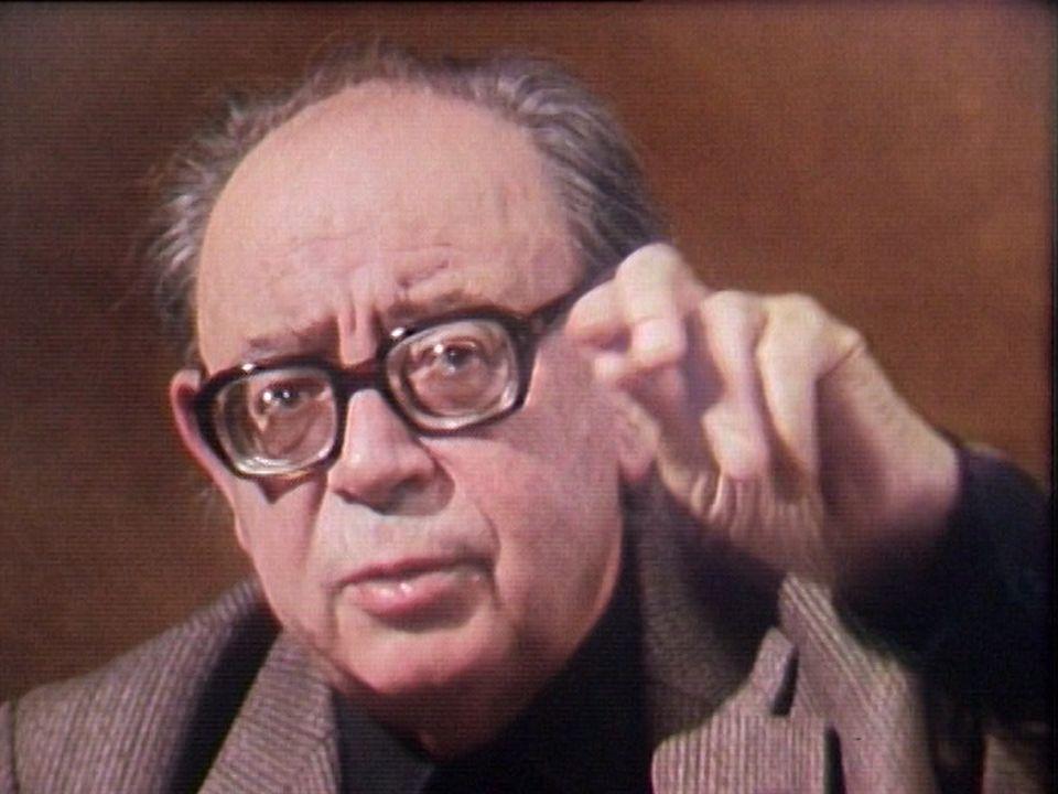 Georges Haldas en 1985. [RTS]