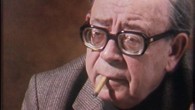 L'écrivain genevois Georges Haldas en 1985. [RTS]
