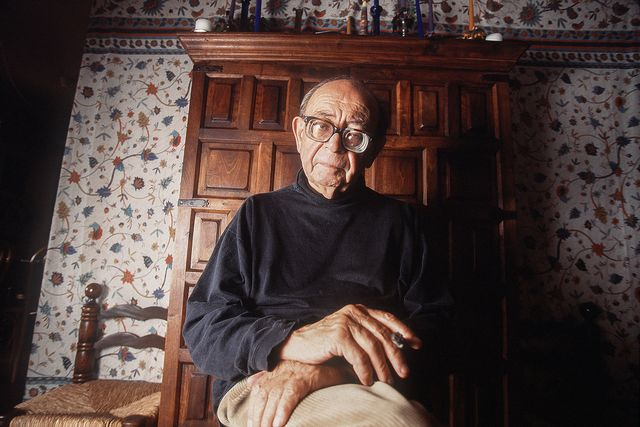 L'écrivain Georges Haldas est décédé en 2010. [Philippe Krauer - Keystone]