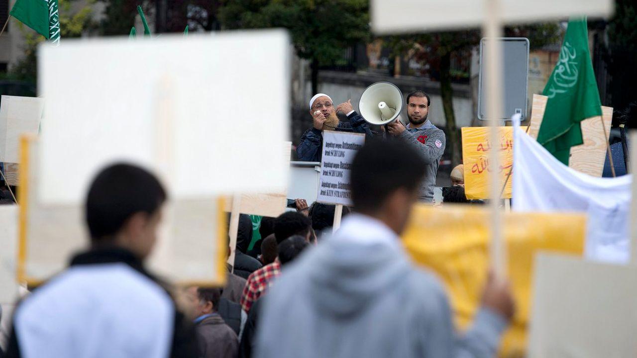 Manifestation d'islamistes à Berne en 2012. [Peter Schneider - Keystone ]