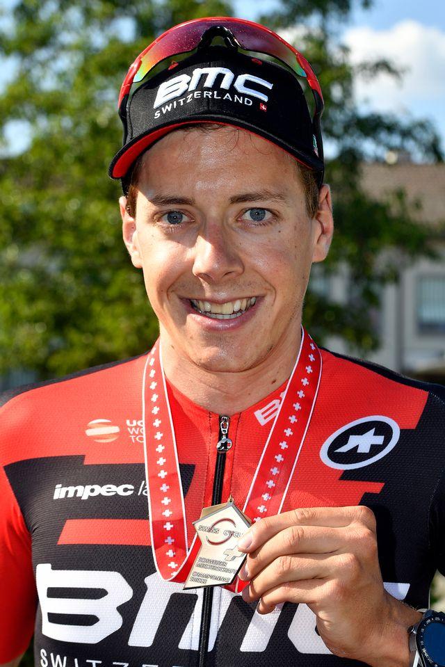 Frankiny avait remporté la médaille de bronze lors des Championnats de Suisse en juin dernier. [Walter Bieri - Keystone]