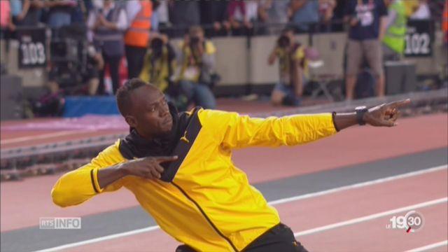 Athlétisme: l'hommage à la légende Usain Bolt [RTS]
