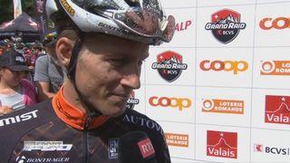 Grand Raid: interview du vainqueur, Samuele Porro (ITA) [RTS]