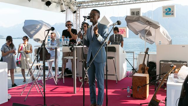 Vuyo Sotashe, plébiscité par le public du Concours de chant 2015 du Montreux Jazz. [Jérôme Genet - RTS]