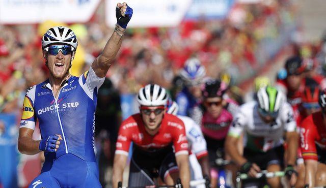 Matteo Trentin a désormais triomphé sur les trois grands Tours. [Javier Lizon - Keystone]