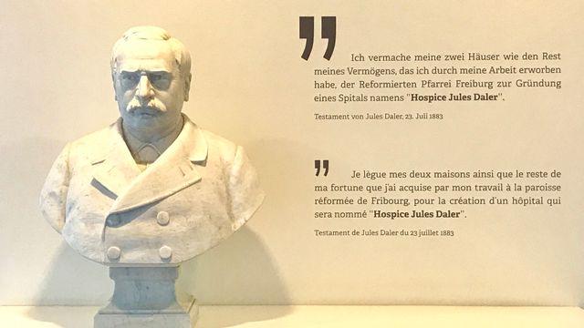 Le buste de Jules Daler. [Maurice Doucas - RTS]