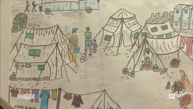Les oeuvres d'artistes syriens réfugiés à l'honneur à Neuchâtel [RTS]
